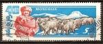 Sellos del Mundo : Asia : Mongolia : Aniv 40 años de la Independencia. Ganadería. Rams.