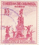 Sellos de America - Colombia -  monumento a bolivar-puente de boyaca