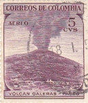 Stamps Colombia -  volcan galeras