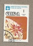 Stamps Cuba -  Jardín Botánico, flor de cactus
