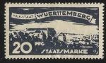 Sellos de Europa - Alemania -  German States-Wurttemberg-View of Tubingen