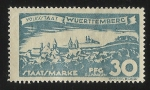 Stamps Germany -  German States-Wurttemberg-View of Ellwangen