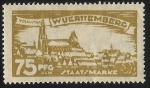 Stamps Germany -  German States-Wurttemberg-View of Stuttcart North