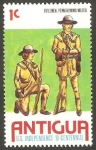 Stamps : America : Antigua_and_Barbuda :  416 - Fusileros de la milicia de Pennsylvania
