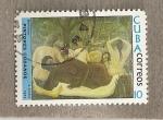 Stamps Cuba -  Pintores cubanos:bañistas