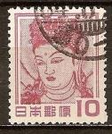 Sellos del Mundo : Asia : Japón : Kannon Bosatsu (detalle de la pintura mural, Horyu Templo).