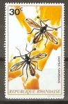 Stamps Rwanda -  DIOPSIS   FUMIPENNIS