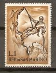 Stamps San Marino -  MONTAÑES   DESCENDIENDO