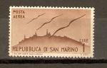 Sellos de Europa - San Marino -  SAN   MARINO    Y   SILUETAS   DE   GAVIOTAS
