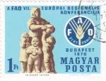 Stamps Hungary -  conferencia europea de la FAO-Budapest 1970