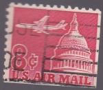 Sellos de America - Estados Unidos -  capitolio y avión