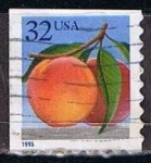 Stamps United States -  Scott  2487 Melocoton (4)