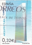 Stamps Spain -  arquitectura-perfil de madrid