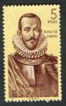 Sellos de Europa - Espa�a -  1381- Forjadores de Am�rica. �uflo de Chaves (1518-1568 ).
