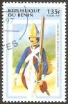 Stamps : Africa : Benin :  Uniforme militar del Regimiento de Infantería