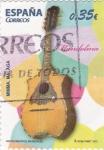 Stamps Spain -  instrumentos musicales- mandolina