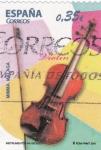 Stamps Spain -  instrumentos musicales- violin