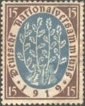 Stamps : Europe : Germany :  Asamblea constituyente República de Weimar
