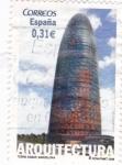 Sellos de Europa - España -  torre agbar  barcelona