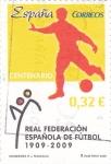 Stamps Spain -  100 años real federación española de futbol 1909-2009
