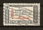 Sellos de America - Estados Unidos -  Credo Americano.