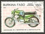 Stamps : Africa : Burkina_Faso :  Centº de la motocicleta