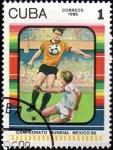 Sellos de America - Cuba -  Campeonato Mundial Mexico` 86