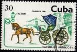 Sellos del Mundo : America : Cuba : Carruajes Antiguos .- FAETON