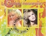 Stamps Africa - Benin -  Marilyn Monroe y Brigitte Bardot