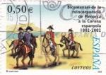 Sellos de Europa - España -  bicentenario de la reincorporació de Menorca a la corona espanyola 1802-2002