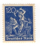 Stamps Germany -  Mineros