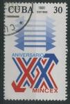 Sellos del Mundo : America : Cuba :  XX Aniv. MINCEX