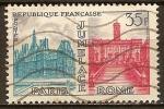 Sellos del Mundo : Europa : Francia : Hermanamiento de París-Roma.
