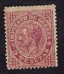 Stamps : Europe : Spain :  Alfonso XII - Impuesto de guerra