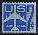 Stamps : America : United_States :  Scott  C51 Avion azul