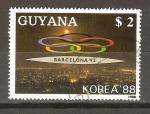 Sellos de America - Guyana -  CLAUSURA   DE   LOS   JUEGOS   OLÌMPICOS   DE   KOREA