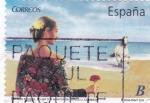 Sellos de Europa - España -  turismo español-mujer con manton de manila