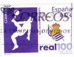 Stamps Spain -  real sociedad de futbol-100 años  1909-2009