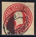 Stamps : America : United_States :  Scott  U429 Washignton (3)