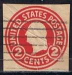 Stamps : America : United_States :  Scott  U429 Washignton (4)
