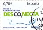 Stamps Spain -  valores cívicos-contra el cambio climático desconecta