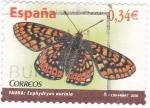 Stamps Spain -  mariposa