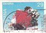 Sellos de Europa - España -  minerales de españa.-cinabrio