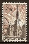 Sellos del Mundo : Europa : Luxemburgo : Iglesia de San Laurent, Diekirch.