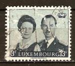 Sellos del Mundo : Europa : Luxemburgo : Adhesión del Gran Duque Jean. El Gran Duque Juan y la princesa Josefina Carlota.
