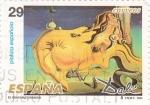 Stamps Spain -  DALI- el gran masturbador