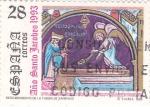 Stamps Spain -  año santo jacobeo-1993