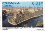 Sellos de Europa - España -  parque natural de las hoces del río duratón