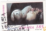 Stamps Spain -  caballos cartujanos 3684 A