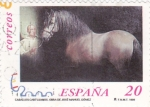 Stamps Spain -  caballos cartujanos 3679 A